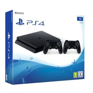 Sony Playstation 4 PS4 Slim 1TB 2 Dualshock Controller