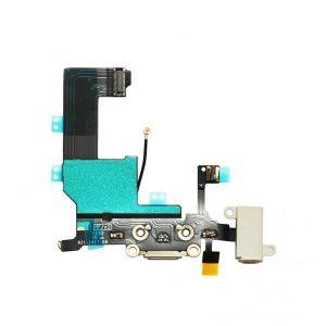 Καλωδιοταινία Flex φόρτισης/ ακουστικών για iPhone 5s Λευκό Charging port dock Audio flex