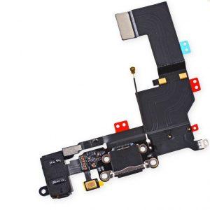 Καλωδιοταινία Flex φόρτισης/ακουστικών για iPhone 5s μαύρο (Charging port dock/Audio flex assembly)