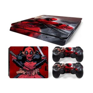 PS4 Αυτοκόλλητα Sticker skin DeadPool 3 για Playstation 4 Slim
