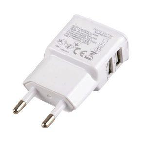 Φορτιστής κινητών διπλό USB (2 Θέσεων) 2.1Α