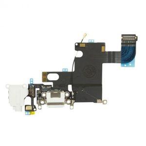 Καλωδιοταινία Flex φόρτισης και ακουστικών για iPhone 6 Λευκό Charging port dock Audio flex Connector