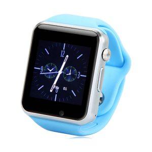 Smartwatch Ρολόι Κινητό Τηλέφωνο με Οθόνη Αφής SIM Camera ελληνικό μενού μπλε