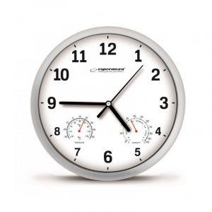 Ρολόι Τοίχου Esperanza με μέτρηση θερμοκρασίας κ υγρασίας