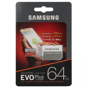 Κάρτα Μνήμης Samsung microSDXC EVO+ 64GB with Adapter MB-MC64GA/EU