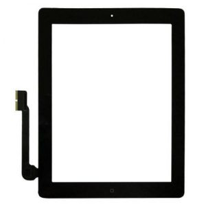 iPad 3 Full Digitizer Οθόνη αφής μαύρο (με Home Button/IC/3M Tapes)