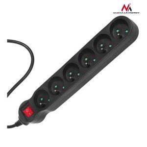 Πολύμπριζο ασφαλείας 6 θέσεων με διακόπτη Maclean MCE186 2300w