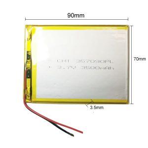 Universal μπαταρία tablet 3.7V 3500mAh 357090 (3.5*70*90mm)