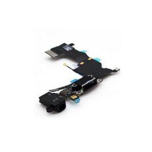 iPhone 5 SE Dock Connector Charging Port and Headphone Jack Flex φόρτισης/ ακουστικών μαύρο
