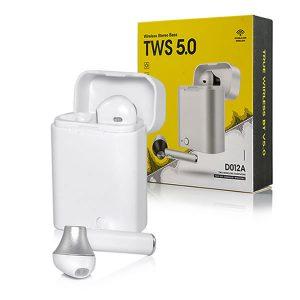 Στερεοφωνικά Bluetooth ακουστικά με power Bank D012 TWS Λευκό