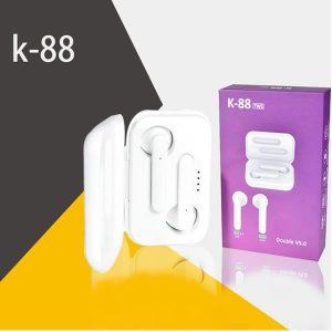 Στερεοφωνικά Bluetooth ακουστικά με power Bank & gift box packing K-88 TWS Λευκό