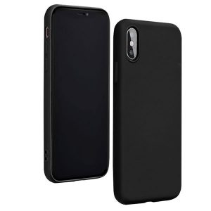 Forcell Θήκη Σιλικόνης για Samsung Galaxy A70 Μαύρη