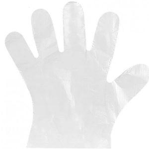 One use plastic Gloves- Πλαστικά γάντια μίας χρήσης- 2 ΤΜΧ (1 Ζευγάρι) Large Σαγρέ
