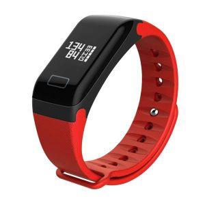 WearFit f1 Plus Smart Bracelet σε κόκκινο χρώμα