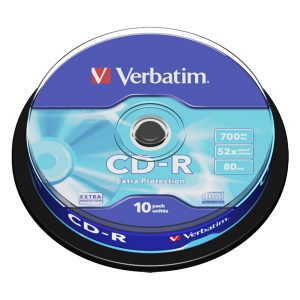 Verbatim CD-R 80min/ 700MB 52X Extra Protection CB 10τμχ