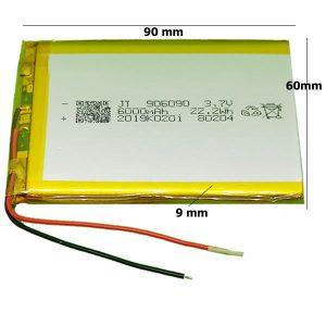 Universal μπαταρία tablet 3.7v 6000mAh 906090