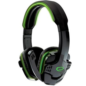 Esperanza Raven EGH310G Headset Ακουστικά Μαύρο- Πράσινο