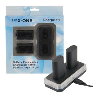 Βάση φόρτισης με επαναφορτιζόμενες μπαταρίες 1400mAh για χειριστήρια Xbox One