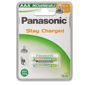 Επαναφορτιζόμενες μπαταρίες Panasonic AAA 750mAh (2τμχ)