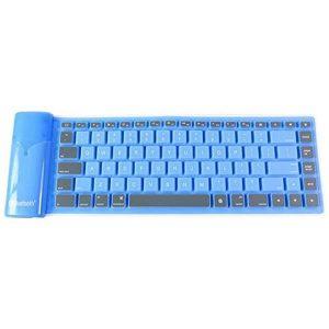 Αδιάβροχο Ασύρματο Bluetooth Πληκτρολόγιο για Μπλε