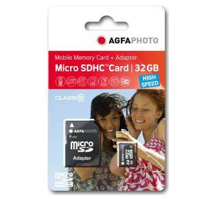 Κάρτα μνήμης AgfaPhoto microSDHC 32GB Class 10 U1 με Adapter