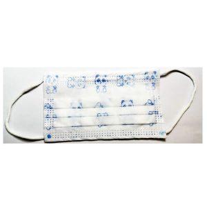 Παιδικές Μάσκες Προστασίας Μιας Χρήσης 3ply για Αγόρια 6-12 Ετών (5 τεμάχια)Λευκό/ Μπλε