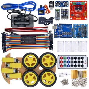 4WD Smart Robot Car Multifunction Bluetooth Controlled Arduino