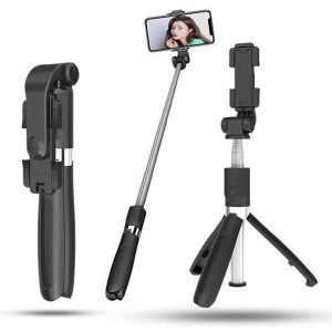 Combo selfie stick with tripod and remote control bluetooth K07