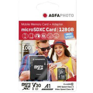 Κάρτα μνήμης AgfaPhoto microSDHC 128GB Class 10 U1 με Adapter