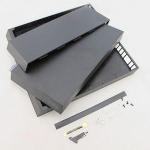 PS4 Top + Bottom Housing Case with Screwdriver για Playstation 4 κονσόλες CUH-1000/ 1100– Black