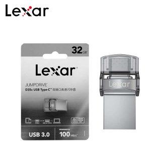 USB Lexar OTG JumpDrive D35c 32GB Dual Type-C Type-A USB 3.0