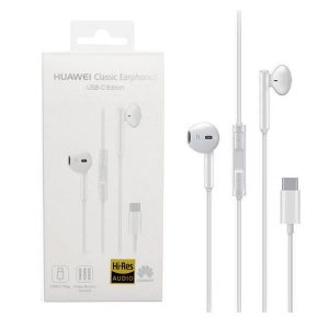 Huawei CM33 Earbuds Handsfree με Βύσμα USB-C Λευκό