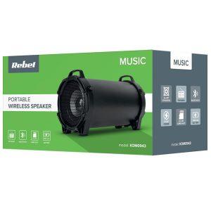 Φορητό Ηχείο Bluetooth Rebel KOM0943 10W, FM radio, USB, MicroSD, 1800mAh