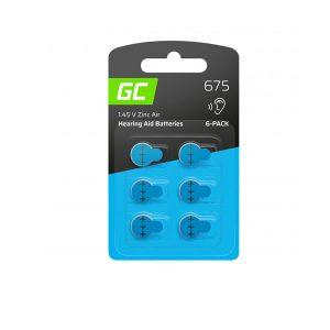 Μπαταρίες ακουστικών βαρηκοΐας Green Cell for hearing aid Type 675 P675 PR44 ZL1 ZincAir