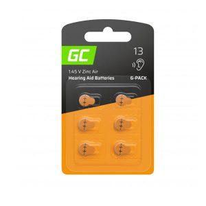 Μπαταρίες ακουστικών βαρηκοΐας Type 13 P13 PR48 ZL2 ZincAir Green Cell x6