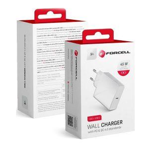 Φορτιστής Forcell USB Type-C Wall Adapter Λευκό